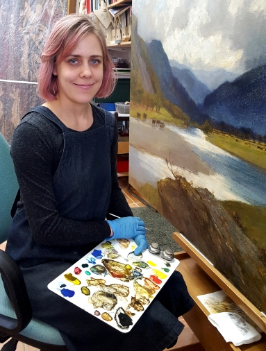 Sarah Bayliss painting conservation and restoration